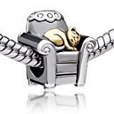 Pugster Cat And Sofa Charm Beads Fit Pandora Charm Bead Bracelet