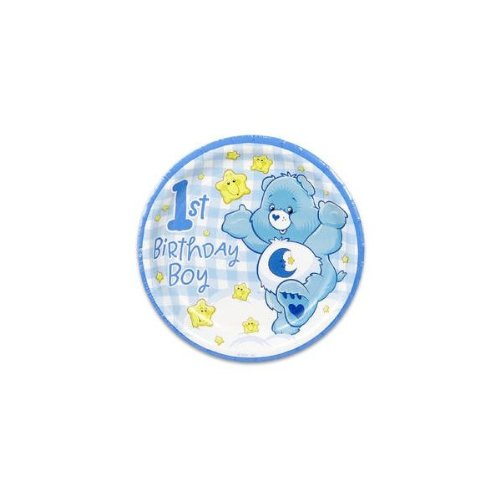 "Care Bears Boy's First Birthday 7"" Dessert Plates - 8 Count - 1"