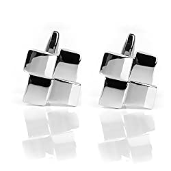 Imported 1 Pair Men's Geometrical Shape Cufflinks Cuff Links Suit Shirt Wedding Party Groom Gift