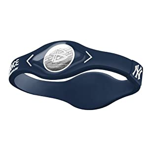 Power Balance MLB Silicone Wristband - Genuine - New York Yankees by Power Balance