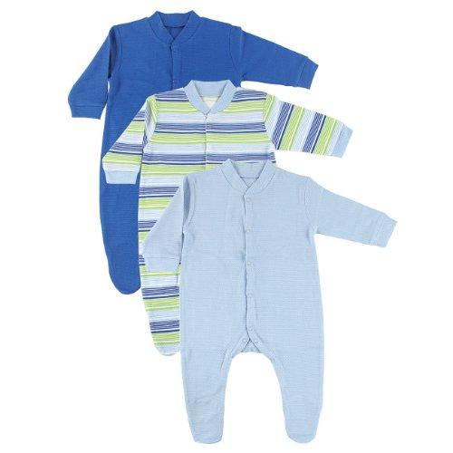 3-Pack Sleep N Play Basket Weave, Blue, 0-3 Months front-772270
