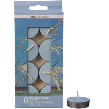 Luminessence Ocean Breeze Scented Tealight Candles - Pack of 8