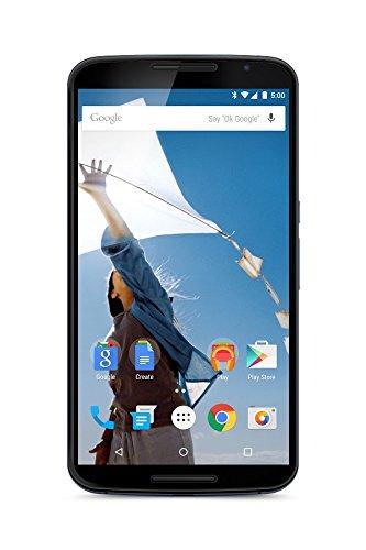 Motorola Nexus 6 Smartphone débloqué 4G (Ecran: 6 pouces – 64 Go – Simple SIM – Android 5.0 Lollipop) Bleu