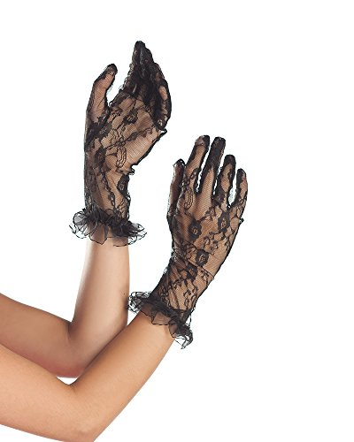 Be Wicked Women's Mid Arm Lace Gloves
