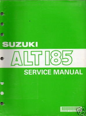 1984-91 Suzuki Atv 3 Wheeler Alt 185 Service Manual front-502027