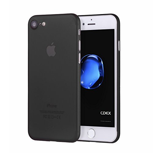 "doupi - UltraSlim Case per Apple iPhone 7 ( 4.7"" ) satinato fine piuma facile Mat semi transparente Copertura Tacsa Custodia Caso Cover - Nero"