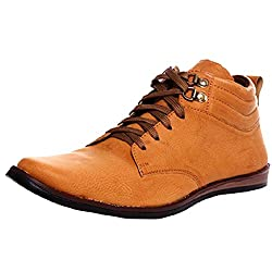 1 st look Mens Synthetic Brown High Top Shoes -9