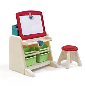 The Step2 Company Flip and Doodle Desk with Stool Easel from The Step2 Company, LLC