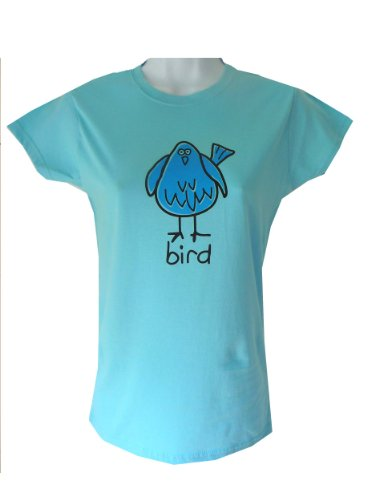 Cocky 'BIRD' fitted Skyblue Womens T.shirt