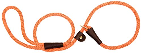 Mendota Products Dog Slip Lead, Orange, 1/2-Inch X 4-Feet