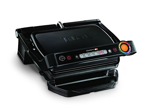 T-fal GC702853 OptiGrill Indoor Electric Grill with Removable and Dishwasher Safe Plates, 1800W, Black (T Fal Electric Griddle compare prices)