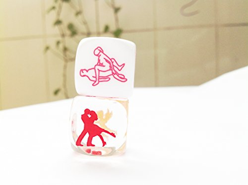 Carved Love Sex Dice Game Toy for Bachelor Sex Party Fun Adult Couple Novelty Gift (2pcs)+gift box or bag