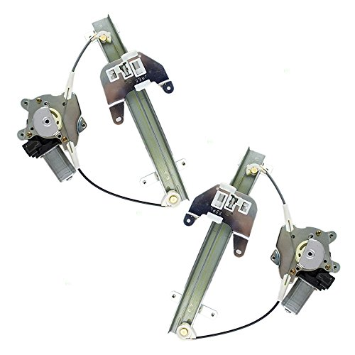 Driver and Passenger Rear Power Window Lift Regulators & Motors Assemblies Replacement for Infiniti Nissan 807318991D 807308991D (2002 Maxima Driver Window Motor compare prices)