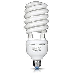 Neewer® Tri-phosphor CFL Daylight Balanced Bulb with 5500K 45Watt E27 for Photography and Video Studio Lighting