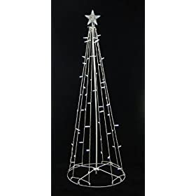 5' Pre-Lit Outdoor LED M5 Christmas String Tree Yard Art Decoration Clear Lights
