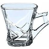 Famacart Tableware Serving Glass Tea Cups Mugs Set Of 6 Pcs