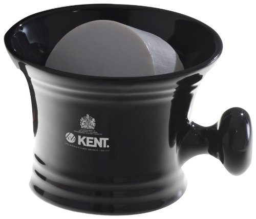 Kent Porcelain Shaving Mug and Soap Black