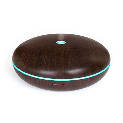 Essential Oil Diffuser Best Aromatherapy Humidifier 400ml Mist Aroma with Color Changing Lights for Home Accesories Dark Bamboo By Bellasentials (Mister Light compare prices)