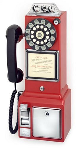 Crosley CR56 1950's Pay Phone - Red