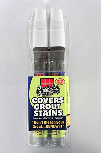 05036 WHITE OR VARIOUS COLORS ++ ++ GROUT-AIDE GROUT AID 2 PACK GROUT REPAIR MARKER (Grout Sponge Wringer compare prices)