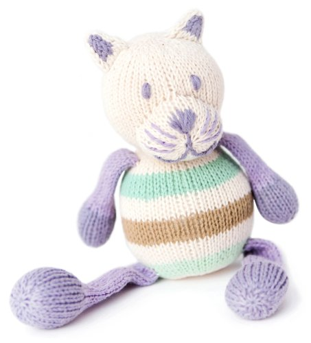 Finn + Emma Organic Cotton Baby Girl Rattle Buddy - Lola the Cat (Discontinued by Manufacturer)