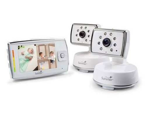 Summer Infant Dual View Digital Color Video Baby Monitor Set - 3.5'' Screen - Color - Portable - 600 Ft Range - Automatic Night Vision
