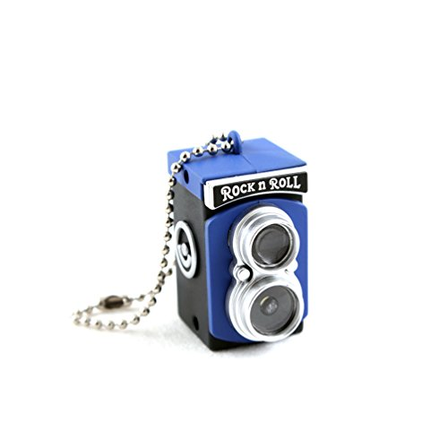 Mini Camera Flash Keychain Lucky Charm Pendant Key Chain Torch Charm Ornament Decoration Blue/Black
