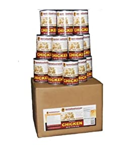 1 Case-Canned Meat (CHICKEN) Long Term Food Storage -Survival Cave