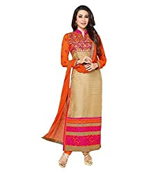 Shubh Women's Georgette Unstitched Dress Material (Shubh_125_Multi-Coloured_Free Size)