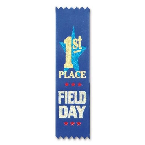 "Field Day 1st Place Value Pack Ribbons 1"" x 6"" Party Accessory - 1"
