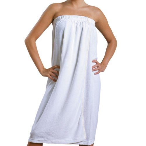 Maghso 100-Percent Egyptian Cotton Bath Wrap, Spa Wrap And Towel Wrap With Velcro Closure