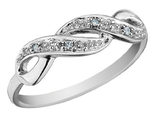 Infinity Diamond Promise Ring in 10K Gold