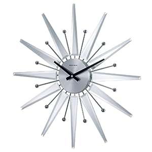 Telechron Mirrored Starburst Clock, Silver