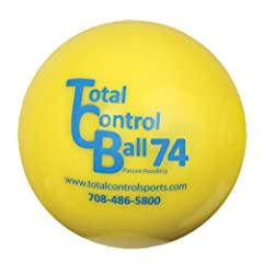 Total Control Sports Baseball Size Batting Ball (Pack of 12), Yellow by Total Control Sports