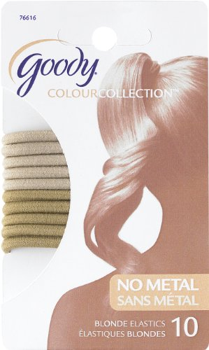 Goody Colour Collection 4mm Elastics Blonde 10 Count