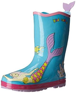 Kidorable Mermaid Rain Boot (Toddler/Little Kid), Aqua, 5 M US Toddler