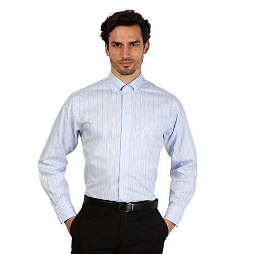 Camicia Brooks Brothers 100040503 AZZURRO blu slim - uomo - 39