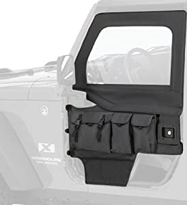 Bestop 51812-15 Black Denim Element Door Storage Bag Set for CJ7 and 86-06 Wrangler at Sears.com