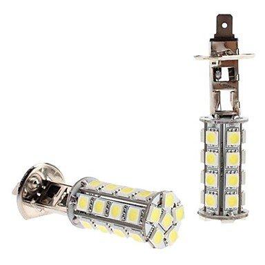 Component Leds - H1 5W 30X5050 Smd White Led Bulb For Car Headlight Fog Light (12V, 2-Pack)