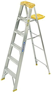 Werner 368 250-Pound Duty Rating Aluminum Stepladder, 8-Foot