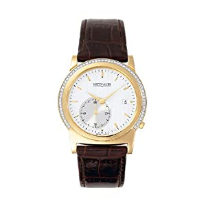 Wittnauer 12E19 Orpheum Men's Watch w/ Silver-White Patterned Dial & Brown Leather Strap