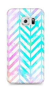 Amez designer printed 3d premium high quality back case cover for Samsung Galaxy S6 Edge (neon splash colours )