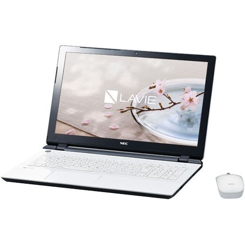 NEC LAVIE Smart NS(e) [Note Standard(e)] [Windows10 Home 64bit Celeron Dual-Core 3215U(Broadwell)/1.7GHz/2コア 4GBメモリ 500GB HDD IEEE802.11ac/a/b/g/n webカメラ USB3.0 HDMI 15.6型液晶/Microsoft Office Home and Business Premium] PC-SN17CJSA7-2 ホワイト(エクストラホワイト)