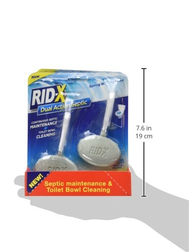 Rid X Septic Tank System Treatment And Toilet Bowl Cleaner Spring Waterfall Scent 8 Count Home