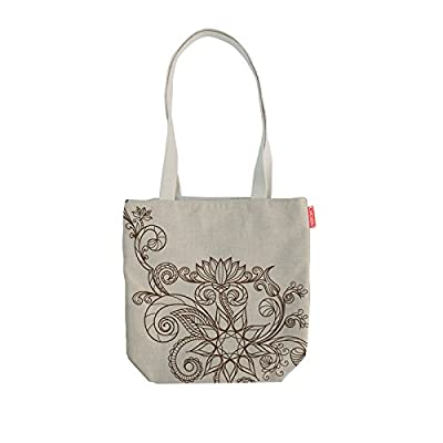 Eco friendly Jute Tote Shopping Gift Bag with Cane Handles - Memorial Day Sale Week