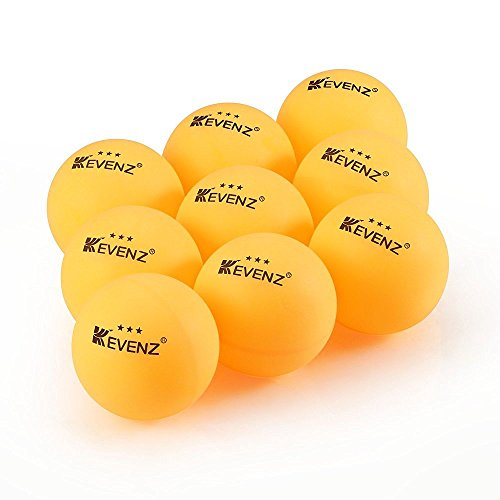 Fantastic Deal! Kevenz Standard 3-Stars Table Tennis Balls (12-Pack,Orange,K3)