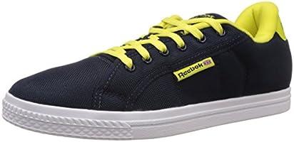 Reebok Men's Reebok Court Blue, Green and White Canvas Sneakers - 7 UK