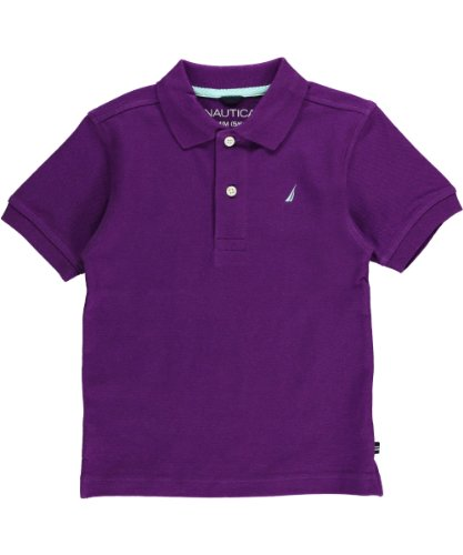 Nautica Boys 2-7 Short Sleeve Solid Pique Polo 2
