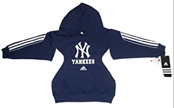New York Yankees Baseball Adidas Youth Hooded Sweatshirt With Pocket Size X-Small 4 5 by adidas