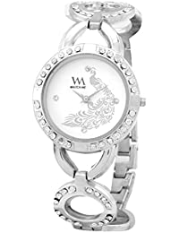 Watch Me White Metal Analogue Watch For Women WMAL-107-S